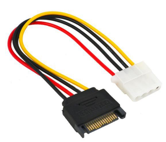 SATA 15Pin-M to 4Pin-F Molex ATX Power Image