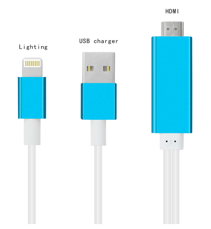 MHL HDMI-Lightning iPhone 1080p Cable Image